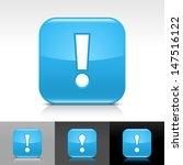 exclamation mark icon. blue...