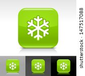 snowflake icon. green color...