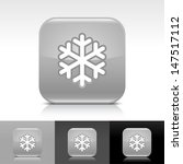 snowflake icon. gray color...