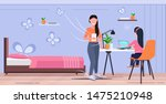 mother and daughter using...   Shutterstock .eps vector #1475210948