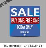 sale event    website or social ... | Shutterstock .eps vector #1475215415
