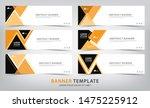 set of six abstract orange web...   Shutterstock .eps vector #1475225912