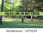 Police Do Not Cross     Yellow...