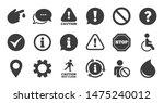 set of attention  information... | Shutterstock .eps vector #1475240012