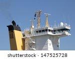 Ship's Bridge Of A Container...