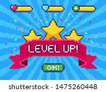 level up screen. pixel video...