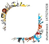 vector tools corner frame... | Shutterstock .eps vector #1475276528