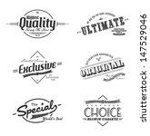 art label vintage theme set | Shutterstock .eps vector #147529046