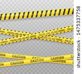 yellow police tape isolated on... | Shutterstock .eps vector #1475337758