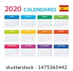 vector template of color 2020... | Shutterstock .eps vector #1475365442