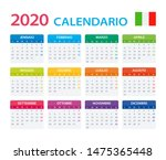 vector template of color 2020... | Shutterstock .eps vector #1475365448