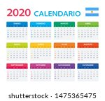 vector template of color 2020... | Shutterstock .eps vector #1475365475