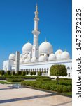 famous sheikh zayed mosque in... | Shutterstock . vector #1475372225
