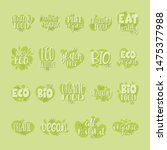vector collection of organic... | Shutterstock .eps vector #1475377988