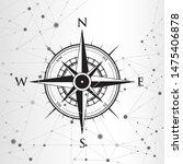 compass on a geometric... | Shutterstock .eps vector #1475406878