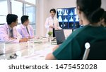 Medical concept. The medical team is meeting the work plan. - stock photo