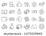 Money Wallet Line Icons. Set Of ...