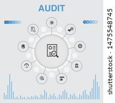 audit infographic with icons....