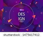 geometric purple design with a... | Shutterstock .eps vector #1475617412