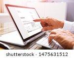 close up of a businessperson's... | Shutterstock . vector #1475631512
