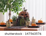 Halloween Table Setting With...