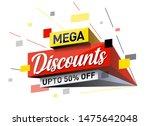 3d pop out mega discount sale... | Shutterstock .eps vector #1475642048