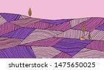 minimalist landscape line art... | Shutterstock .eps vector #1475650025