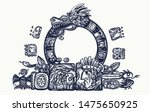 ancient maya civilization. ... | Shutterstock .eps vector #1475650925