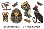 ancient egypt elements. pharaoh ... | Shutterstock .eps vector #1475650985