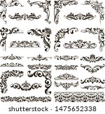 ornamental design lace borders... | Shutterstock .eps vector #1475652338