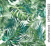 beautiful tropical pattern with ... | Shutterstock .eps vector #1475666222