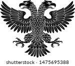 double headed eagle with two... | Shutterstock .eps vector #1475695388