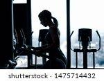 Woman Running On The Treadmill...