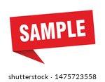 sample speech bubble. sample...   Shutterstock .eps vector #1475723558