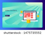 playing video on laptop screen  ...   Shutterstock .eps vector #1475735552