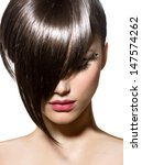 fashion haircut. hairstyle.... | Shutterstock . vector #147574262