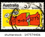 australia   circa 1973  a stamp ... | Shutterstock . vector #147574406