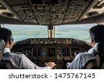 Inside Cockpit Of Commercial...