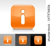 information icon set. orange...