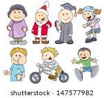 various characters kids vector... | Shutterstock .eps vector #147577982