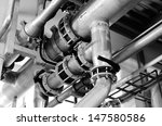 large industrial boiler room | Shutterstock . vector #147580586