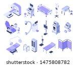 isometric hospital tools.... | Shutterstock .eps vector #1475808782