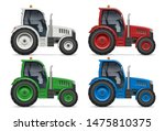 agricultural tractor icons with ... | Shutterstock .eps vector #1475810375