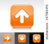 arrow upload icon. orange color ...