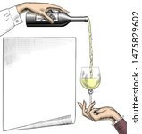 wine list template layout.... | Shutterstock .eps vector #1475829602
