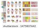 vector set. food store. top... | Shutterstock .eps vector #1475837642
