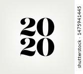 2020  new year design elegance... | Shutterstock .eps vector #1475941445