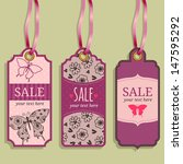 sale a collection of tags with... | Shutterstock .eps vector #147595292