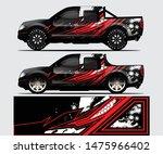 truck decal graphic wrap vector ...   Shutterstock .eps vector #1475966402