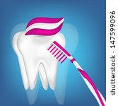 tooth and toothbrush design... | Shutterstock . vector #147599096